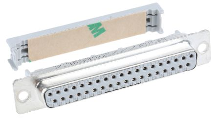 8300 Series 2.74mm Pitch 37 Way IDC D-sub Connector, Socket, Steel Shell product photo