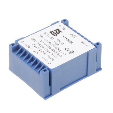 2 x 6V ac PCB Mount PCB Transformer, 4VA