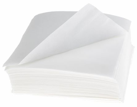 RS PRO Fibre Optic Cleaning Tissue 100 pcs for Fibre End