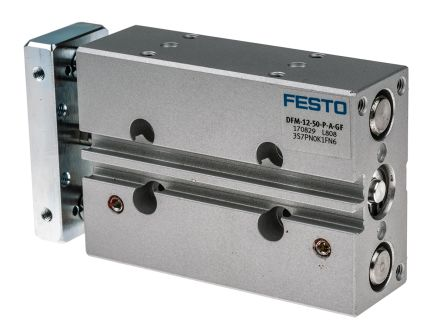 Festo Guide Cylinder 12mm Bore, 50mm Stroke, DFM Series, Double Acting
