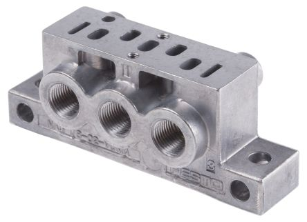 5 stations G 1/8, Metric M5 Sub Base, Aluminium 5 mm, 1/8 in G, Metric product photo