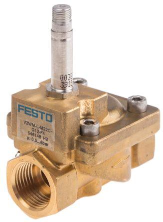Festo 2/2 Pneumatic Solenoid Valve Solenoid/Spring G 1/2 VZWM Series