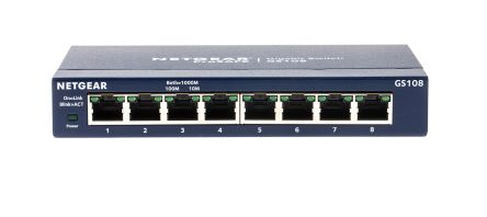 NETGEAR GS108UK 8-Port Gigabit Ethernet non gestito Switch