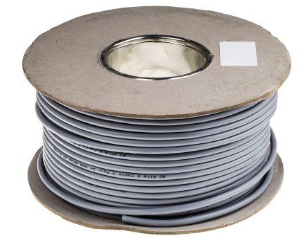 3 Pair Aluminium Foil-PET Tape Multipair Industrial Cable 0.2 mm² Grey 100m product photo