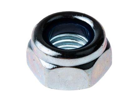 RS PRO, M8, Zinc Plated Steel Nylon Insert Lock Nut