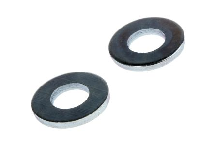 Bright Zinc Plated Steel Plain Washer, 1.5mm Thickness, M6 (Form C) product photo