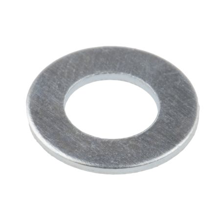Bright Zinc Plated Steel Plain Washer, 0.9mm Thickness, M6 (Form B) product photo