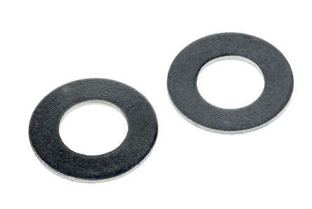 Bright Zinc Plated Steel Plain Washer, 1.45mm Thickness, M10, M10 (Form B) product photo
