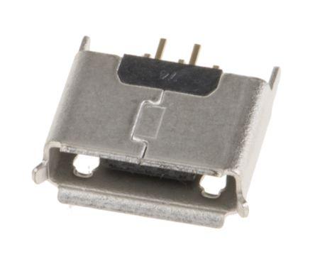Wurth Elektronik AB 2 0 Micro USB Connector Receptacle, Vertical