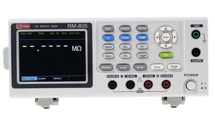 RS PRO RM-805 Ohm Meter, Maximum Resistance Measurement 5 MΩ, Resistance Measurement Resolution 1μΩ, Measurement