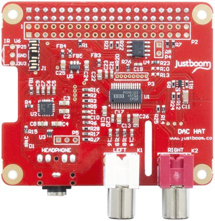Pi Supply DAC HAT for Raspberry Pi, JustBoom DAC HAT
