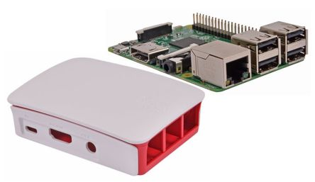 Bundle - Pi3 and Red/White Official Case