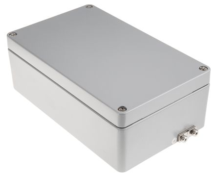 RS PRO Aluminium Enclosure, IP65, IP66, IP67, IP68, 90 x 260 x 160mm ATEX,  IECEx