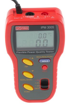 RS PRO IPM3005 Power Quality Analyser