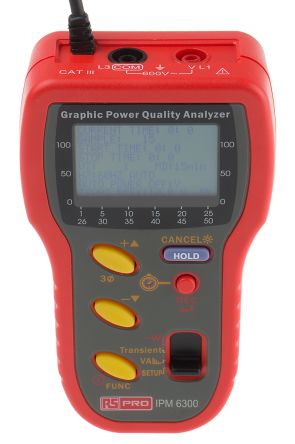 RS PRO IPM6300 Power Quality Analyser