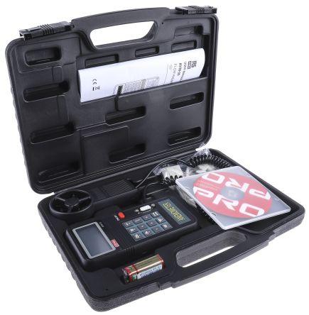RS PRO AVM-09 Vane 45m/s Max Air Velocity Air Velocity, Temperature Anemometer