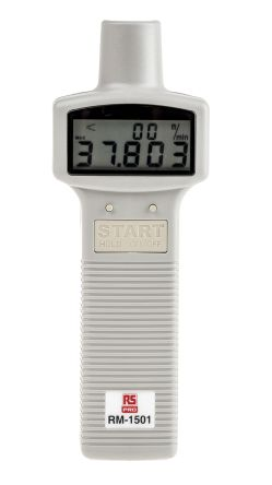 RS Pro Tachometer, Best Accuracy 0.04 % ± 2 Digits Digital LCD 99990 (Non-Contact)rpm