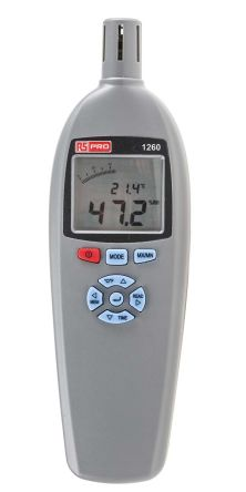 RS PRO RS1260 Thermohygrometer, Max Humidity 99%RH