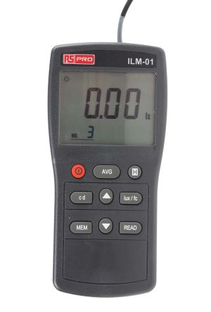 RS PRO ILM01 Light Meter, 0.01lx to , ±3 % ± 5 Digit