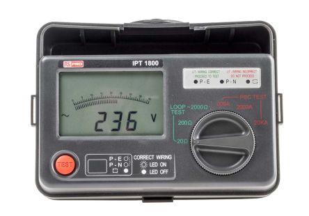 RS Pro IPT1800, LCD Schleifenimpedanz Messgerät, 3-Draht Messung, UK ...