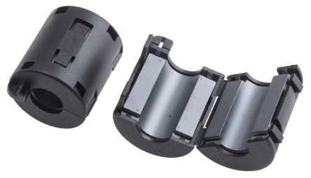 RS PRO Openable Ferrite Clamp, 23.5 x 36 x 22.5mm, For Computer Peripherals, Hinged Clamps Wiring Harness on