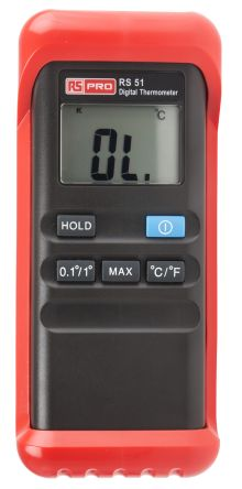 RS PRO Data Acquisition Digital Thermometer, 1 Input Handheld, K Type Input