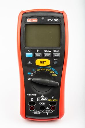 RS Pro IIT1500, Insulation Tester 20GΩ CAT IV 600 V