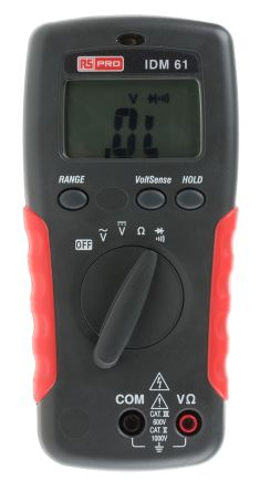 RS PRO IDM61 Handheld Digital Multimeter 750V ac 1000V dc 20MΩ