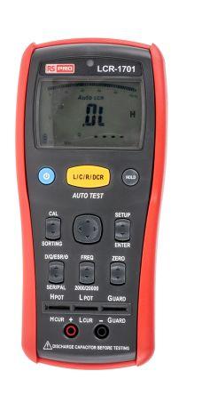 RS PRO LCR Meter 20mF, 200 MΩ, 20kH Handheld Type