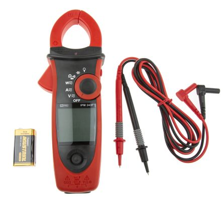 RS PRO IPM243F Current, Voltage Clamp Meter, Max Current 600A ac, 600A dc  CAT III 1000 V, CAT IV 600 V