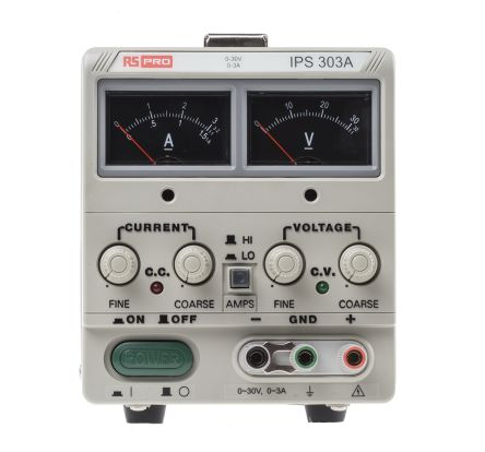 RS PRO Bench Power Supply Analogue 90W, 1 Output 0 → 30V 0 → 3A