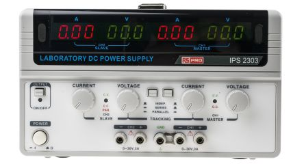 RS PRO Bench Power Supply Digital 180W, 2 Output 0 → 30V 3A