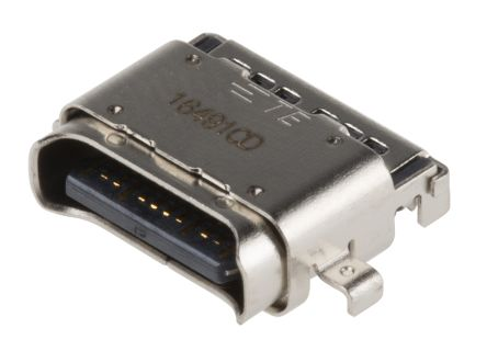 2295018-2 Female USB C Connector, Straight Surface Mount IPX4