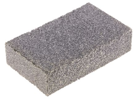 RS PRO Aluminium Oxide Medium Sanding Block 60 Grit, 80mm x 50mm x 20mm