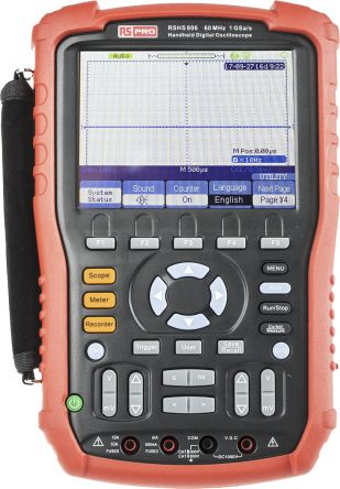 RS Pro RSHS800 Series RSHS806 Digital Oscilloscope, Handheld, 2 Channels, 60MHz
