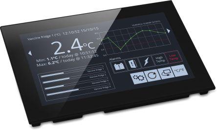 Lascar PanelPilot , TFT Colour Digital Panel Multi-Function Meter for Current, Voltage, 117mm x 180mm