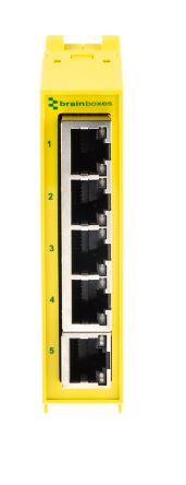 Brainboxes Ethernet Switch for use with Ethernet Network 2 x Inputs 5 x Outputs