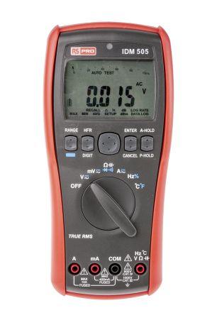 RS Pro IDM505 Handheld Digital Multimeter, 10A ac 1000V ac 10A dc 1000V dc