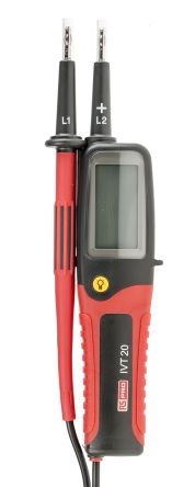 RS Pro Voltage Indicator with RCD Trip Test Continuity Check CAT III 750 V, CAT IV 600 V