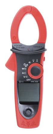 RS Pro IPM245F Clamp Meter, Max Current 1kA ac, 1kA dc CAT III 1000 V, CAT IV 600 V