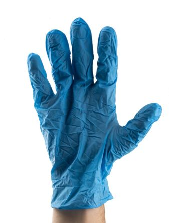 RS PRO Blue Nitrile Disposable Gloves size 9.5 - XL Powder-Free x 100