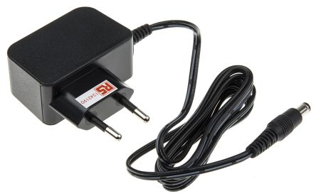 RS Pro, 12W AC DC Adapter 12V dc, 0 → 1A, Level VI Efficiency, 1 Output  Switched Mode Power Supply, European Plug