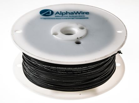 Alpha Wire Harsh Environment Wire 0.23 mm² CSA, Black 305m Reel, Hook Up Wire Series