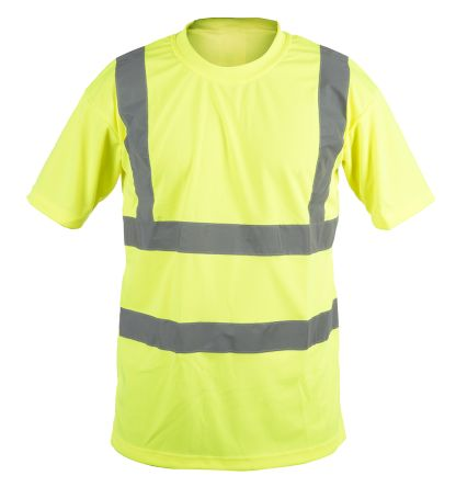 RS PRO Yellow Unisex Hi Vis T-Shirt, XL