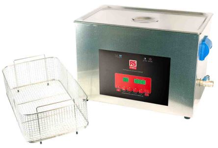 RS PRO Ultrasonic Cleaner, 500W, 27L with Lid