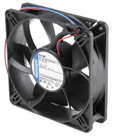 ebm-papst 4314 Series Axial Fan, 119 x 119 x 32mm, 285m³/h, 10W, 24 V dc