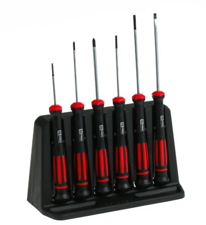 RS Pro Screwdriver Set, 6 Piece - Electronic Phillips: Slotted