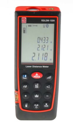 RS PRO ILDM-150H Laser Measure, 0.05 → 70 m Range, ± 1.5 mm Accuracy