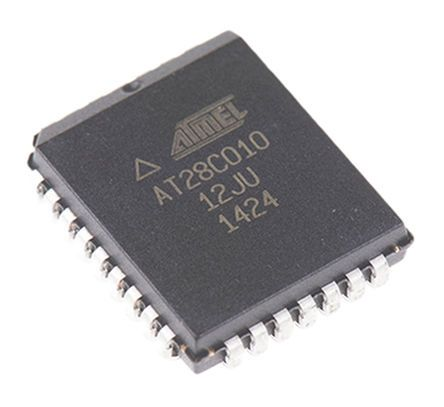 Microchip AT28C010-12JU, 1Mbit Parallel EEPROM Memory, 120ns 32-Pin PLCC Parallel