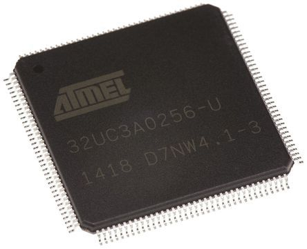 Microchip AT32UC3A0256-ALUT, 32bit AVR32 Microcontroller, 66MHz, 256 kB Flash, 144-Pin LQFP